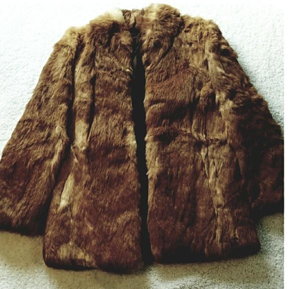 Vintage Jackets & Blazers - Vintage Rabbit Fur Coat size m